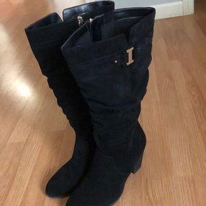Dr Scholl's Black Tall Heeled Boots